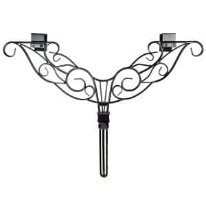 Black Metal 12 in. - 19 in. Adjustable Wreath Hanger (Antler Design)