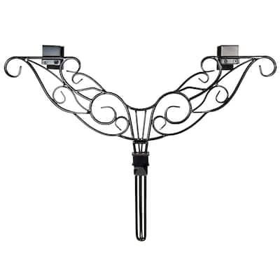 19 in. Black Antler Adjustable Wreath Hanger