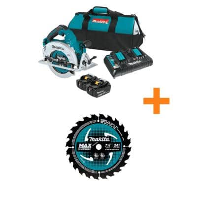 18-Volt X2 LXT (36-Volt) Brushless Cordless 7.25 in. Circular Saw Kit 5.0Ah with Bonus 7.25 in. Framing Saw Blade