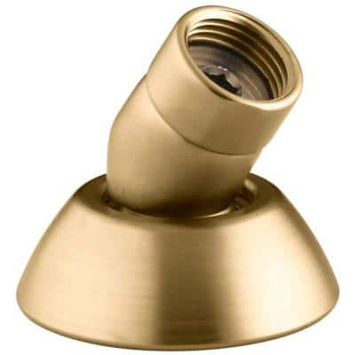 3-Way Handshower Hose Guide in Vibrant Moderne Brushed Gold