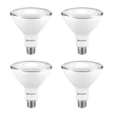90-Watt Equivalent PAR38 Non-Dimmable Flood LED Light Bulb Daylight (4-Pack)