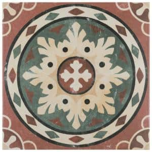 Habana Rosso Encaustic 9-3/4 in. x 9-3/4 in. Porcelain Floor and Wall Tile (11.11 sq. ft. / case)