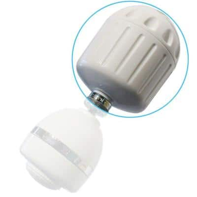High Output2 3 in. Shower Filter in White