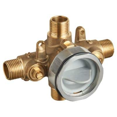 Flash Shower Rough-In Valve with Universal Inlets and Outlets with Screwdriver Stops