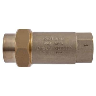 1 in. FIP BF-1 Series Dual Check Backflow Preventer