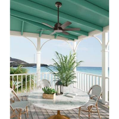 Kennicott 44 in. Indoor/Outdoor Premier Bronze Ceiling Fan with Wall Control