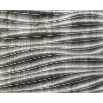 18.5'' x 24.3'' Wilderness Decorative 3D PVC Backsplash Panels in Crosshatch Silver 1-Piece