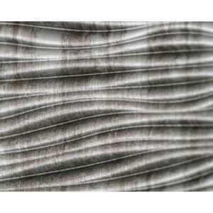 24.3 in. x 18.5 in. Wilderness Decorative 3D PVC Backsplash Panels in Crosshatch Silver 12-Pieces