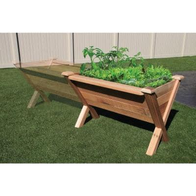 48 in. x 34 in. Rustic Cedar Modular Wedge Planter