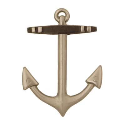 Nickel Silver Anchor Door Knocker