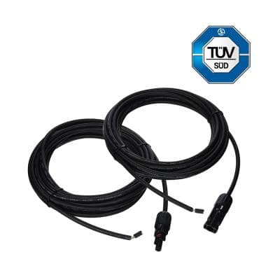 20 ft. 12 AWG Solar Panel and Charge Controller Connector Adaptor Kit Cables