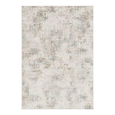Bernadette Ivory 5 ft. x 7 ft. Solid Color Polypropylene and Viscose Area Rug