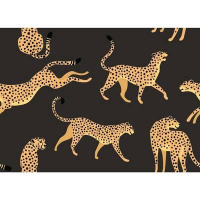 28.29 sq. ft. Cheetah Cheetah Peel and Stick Wallpaper