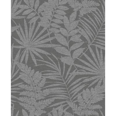 Fenne Tropical Leaf Blue Wallpaper Sample