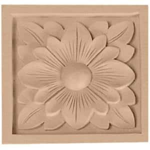 3/4 in. x 3-1/2 in. x 3-1/2 in. Unfinished Wood Maple Medium Dogwood Flower Rosette