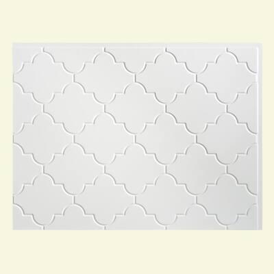 18.25 in. x 24.25 in. Monaco Vinyl Backsplash Panel in Gloss White (5-Pack)