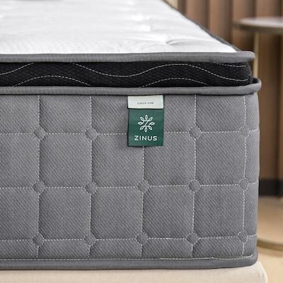 Cool Touch Comfort Gel 12 Inch Medium Euro Top Queen Hybrid Mattress