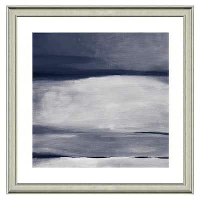"""Gray horizon I"" Framed Archival Paper Wall Art (26 in. x 26 in. in full size)"