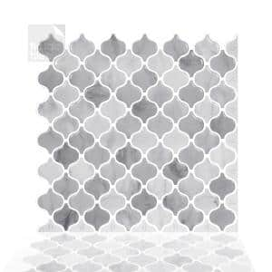 10-sheets Damask Marble 12 in. x 12 in. Peel and Stick Self Adhesive Mosaic Wall Tile Backsplash 10 sq.ft. / pack