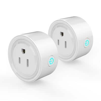 Smart Plug Wi-Fi Control Devices from Anywhere C ETL US Certified (2-Pieces)