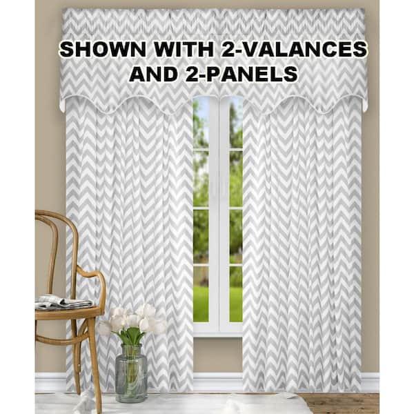 Sterling Chevron Rod Pocket Room Darkening Curtain 50 In W X 84 In L 730462115041 The Home Depot