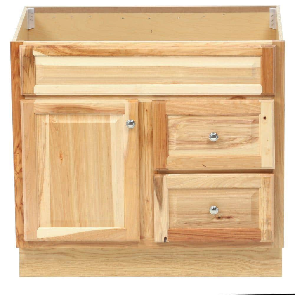 Glacier Bay Hampton 36 In W X 21 In D X 33 5 In H Bathroom Vanity Cabinet Only In Natural Hickory Hnhk36dy The Home Depot