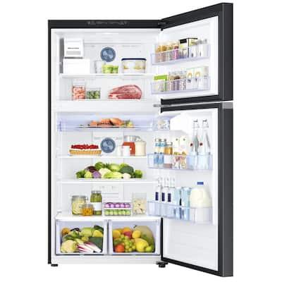 21.1 cu. ft. Top Freezer Refrigerator with FlexZone in Fingerprint Resistant Black Stainless, Energy Star, Ice Maker