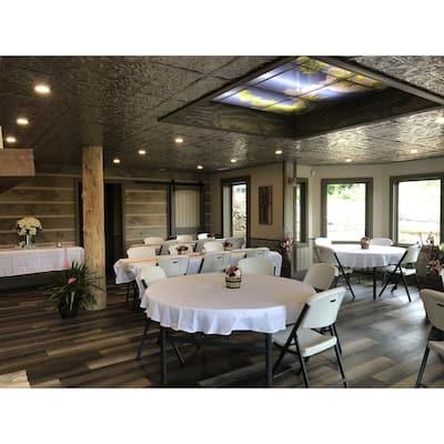 Tiptoe 2 ft. x 2 ft. Nail Up Tin Ceiling Tiles Surface Mount Satin Black (48 sq. ft./case)