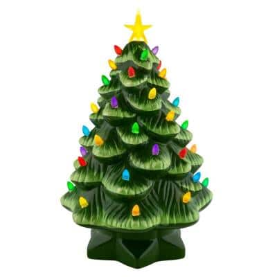 14 in. Nostalgic Christmas Tree in Green