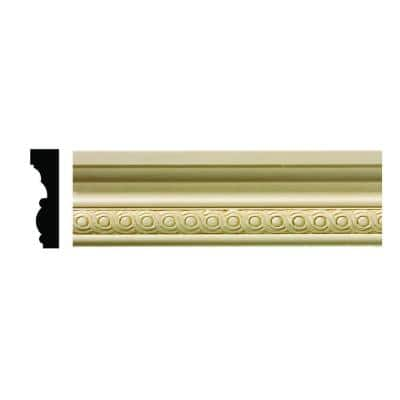 1602 1/2 in. x 1-3/4 in. x 6 in. Hardwood White Unfinished Rondele Small Chair Rail Moulding Sample