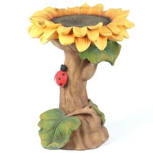 Polyresin Sunflower Bird Bath