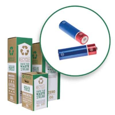 6 Gal. Alkaline Batteries Recycling Containers Mail Back Zero Waste Boxes