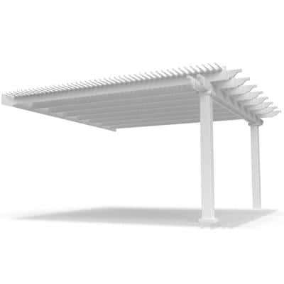 Modern Pergola-Kit Traditional 16 Ft. x 16 Ft. Attached Pergola with 7 In. Square Posts
