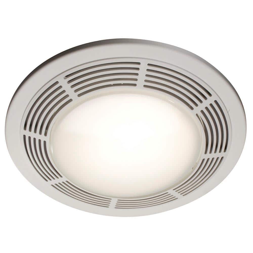Broan Nutone 100 Cfm Ceiling Bathroom Exhaust Fan With Light And Night Light 750 The Home Depot