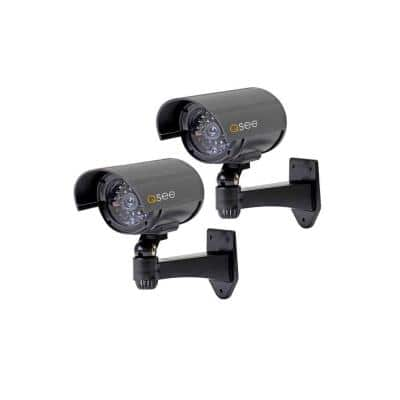 Decoy Cameras with Warning Sign (2-Pack)
