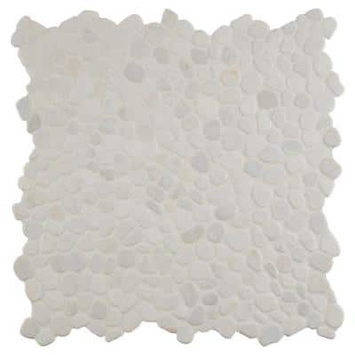 Stark Galet 12 in. x 12 in. x 10 mm Tumbled Marble Mosaic Tile (9.1 sq. ft. / case)