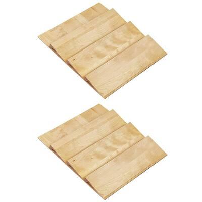 24 in. Maple Spice Drawer Storage Organizer Insert (2-Pack)