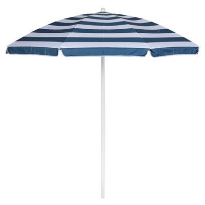 5.5 ft. Portable Beach Umbrella in Blue and White Stripe