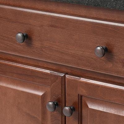 1-1/4 in. Oil Rubbed Bronze Mushroom Cabinet Knob (25-Pack)