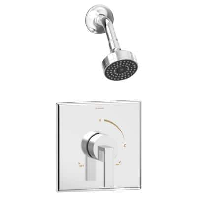 Duro 1-Handle Wall-Mountd Shower Trim Kit in Polished Chrome (Valve Not Included)