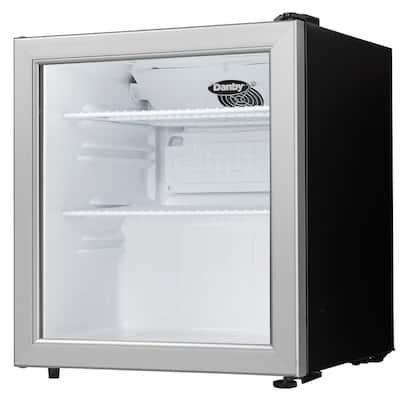 18 in W. 1.6 cu. ft. Glass Door Commercial Refrigerator in Black