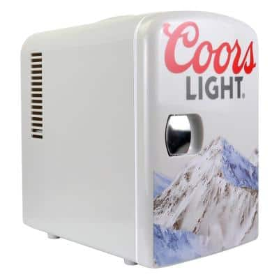 0.14 cu. ft. Coors light Portable Mini Fridge in Gray without Freezer
