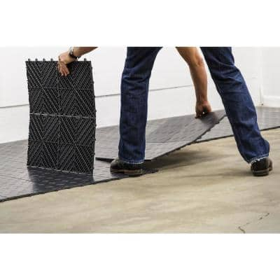 12 in. x 12 in. Coin Graphite Modular Tile Garage Flooring (24-Pack)