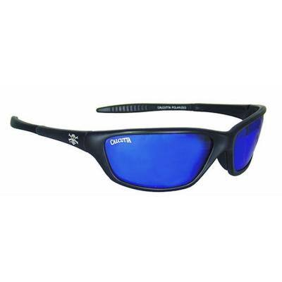 Black Frame Tellico Sunglasses with Blue Mirror Lenses