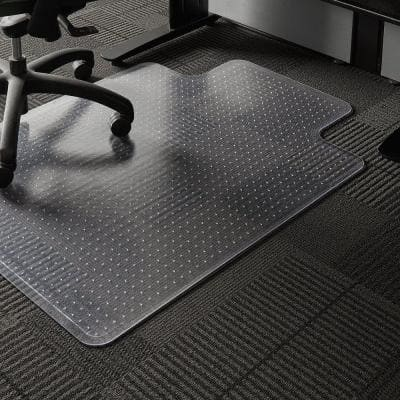 Professional Clear 36 in. x 48 in. Carpet Vinyl Chair Mat