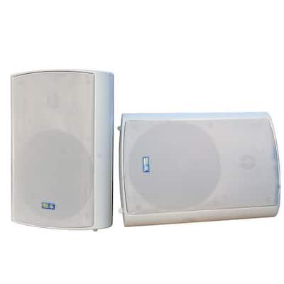 6.50 in. Bluetooth Indoor/Outdoor Weatherproof Patio Speakers Wireless Outdoor Speakers, Gray