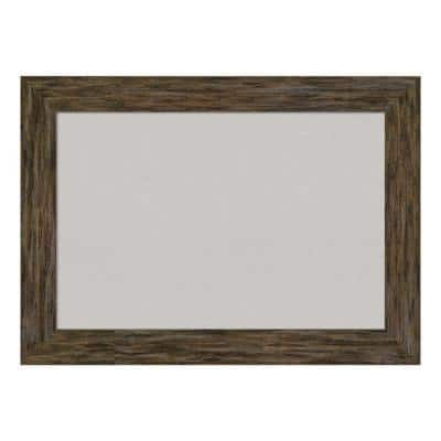 Fencepost Brown Framed Grey Cork Memo Board