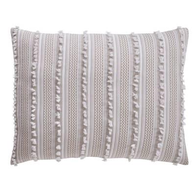 Angelique Comforter 3-Piece Taupe Full/Queen 100% Tufted Unique Luxurious Soft Plush Chenille Comforter Set