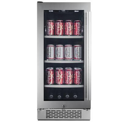 Single Zone 15 in. 86-Can Built-in Beverage Cooler - Left Hinge