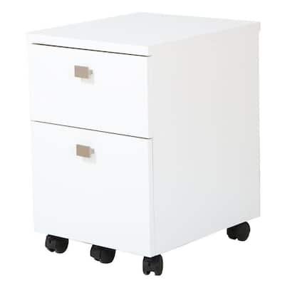 Interface Pure White File Cabinet